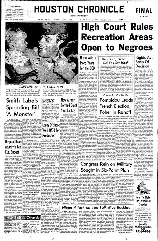 June 2, 1969 Photo: Houston Chronicle