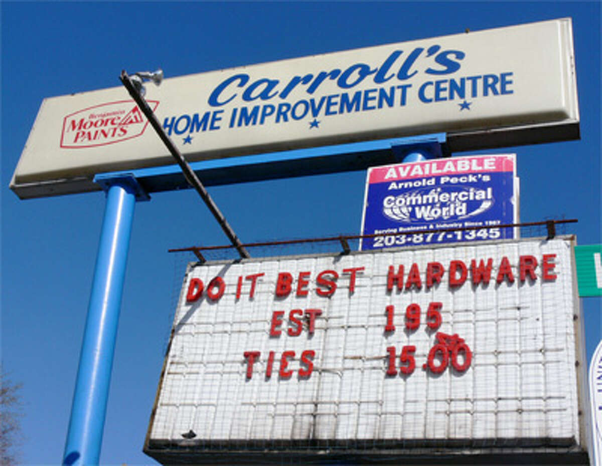 Most people are familiar with the large Carroll's Home Improvement Centre sign on Howe Avenue in the southern part of downtown.