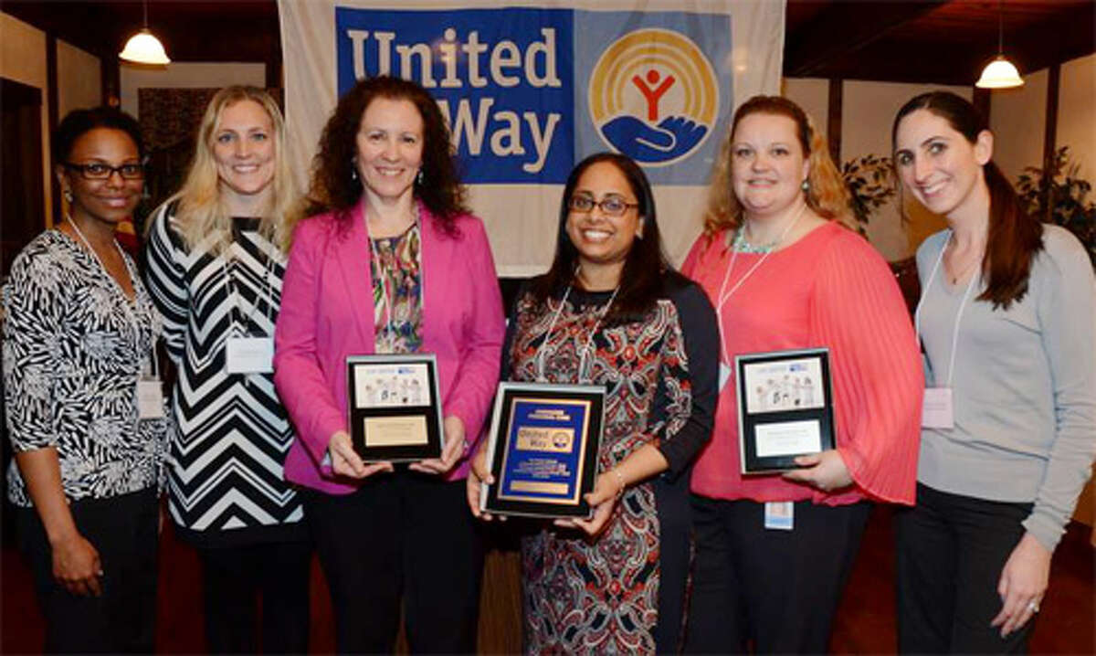 Representatives of Energizer Personal Care of Shelton are recognized as the Valley United Way campaign's outstanding coordinator and team, receiving the Overall No. 1 Campaign Award.