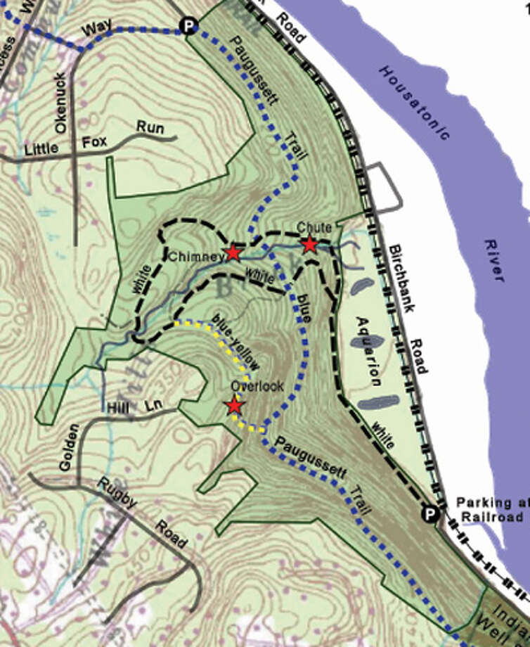 A map of the Birchbank Open Space and trail in Shelton, near Indian Well State Park.