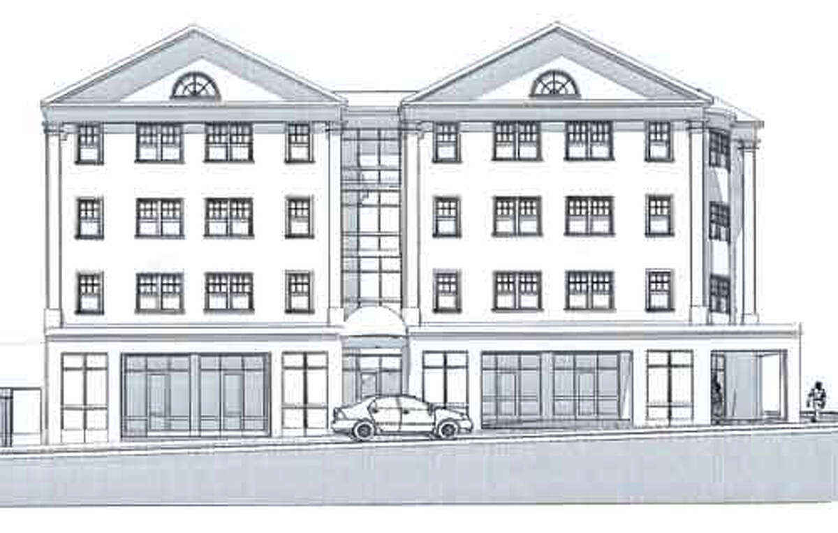 Another view of the conceptual plan envisioned for the downtown Shelton fire site by the Matto family, who own the property.