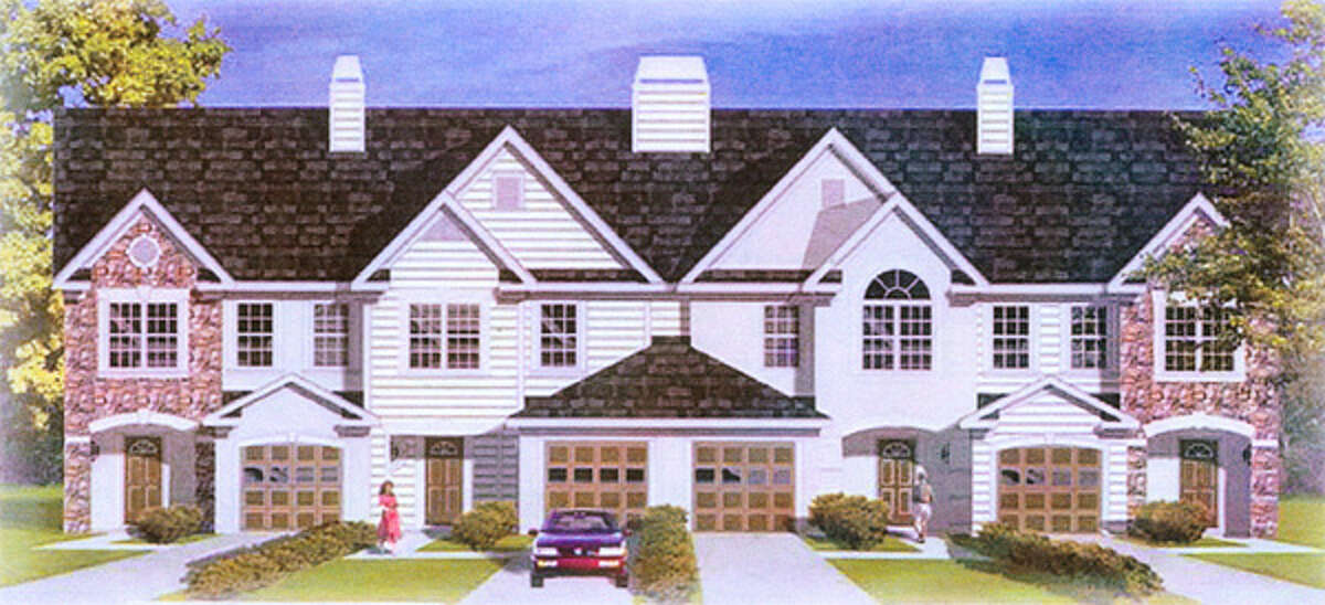 A conceptual image of a multifamily townhouse that also was submitted as part of the proposal by the developer,