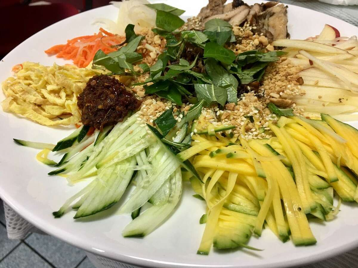 Jason Halverson (chef and partner of Hi Neighbor Group that oversee the group's four restaurants: Trestle, Corridor, Fat Angel and The Vault): Pho Huynh Sang Chef recommends: Goi Ngu Sac salad