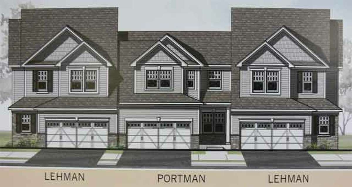 An artistic rendering of some of building designs planned for Shelton Cove on River Road.