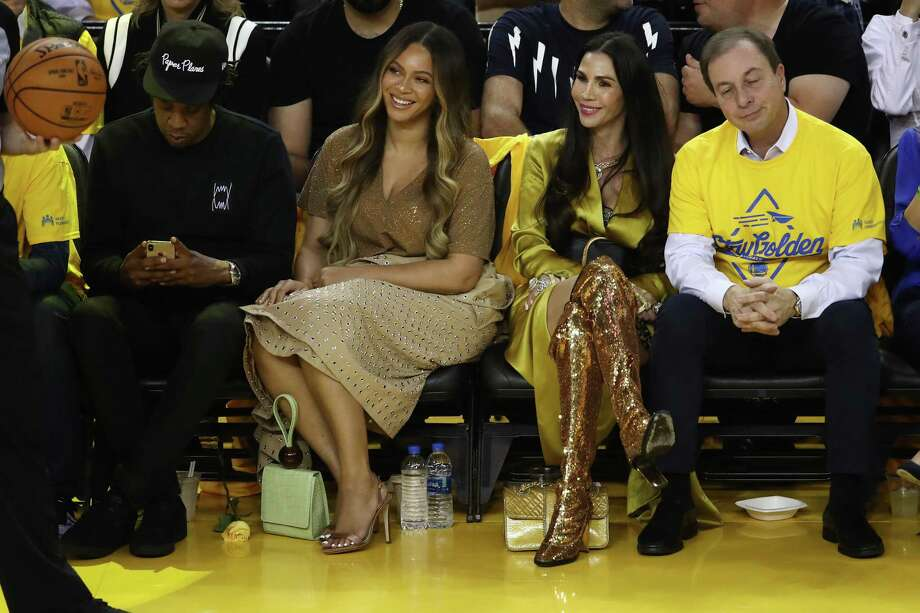 PHOTOS: Check out which celebrities were at Game 3 of the NBA Finals on Wednesday night in Oakland OAKLAND, CALIFORNIA - JUNE 05: (L-R) Jay-Z, Beyonce, Nicole Curran and Joseph S. Lacob attend Game Three of the 2019 NBA Finals between the Golden State Warriors and the Toronto Raptors at ORACLE Arena on June 05, 2019 in Oakland, California. Browse through the photos above to see which celebrities were at Game 3 of the NBA Finals ... Photo: Ezra Shaw, Getty Images / 2019 Getty Images