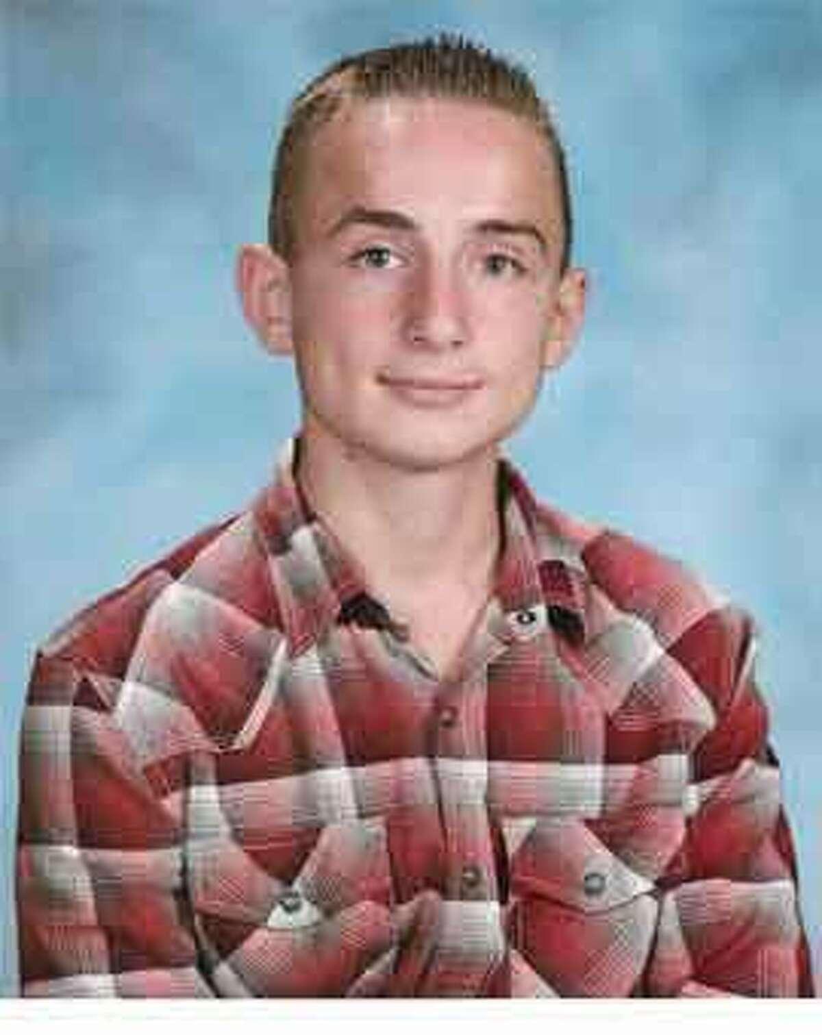 A Shelton High School yearbook photo of Kristjan Ndoj released by the Shelton Police Department.