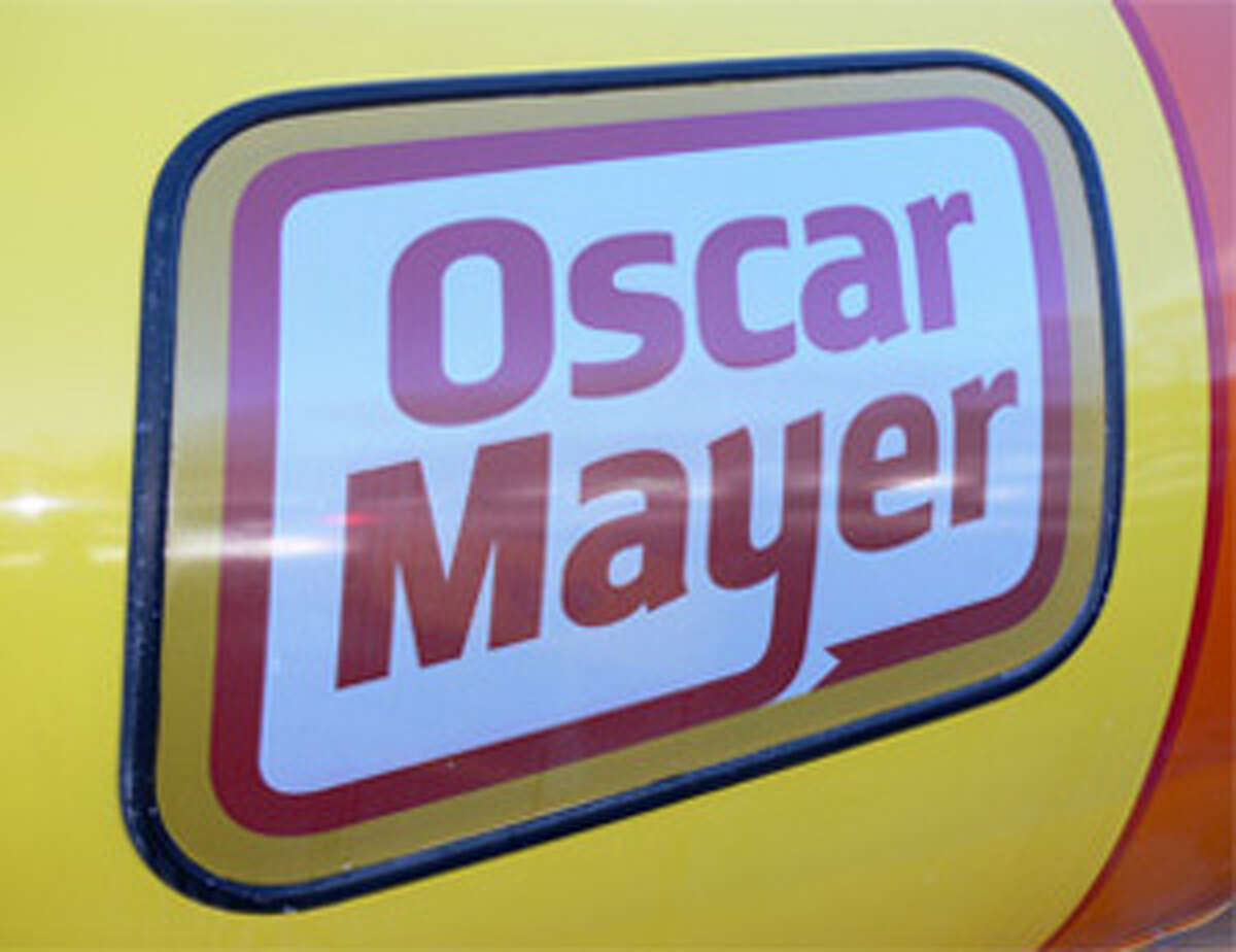 A logo on the side of the Oscar Mayer Wienermobile.