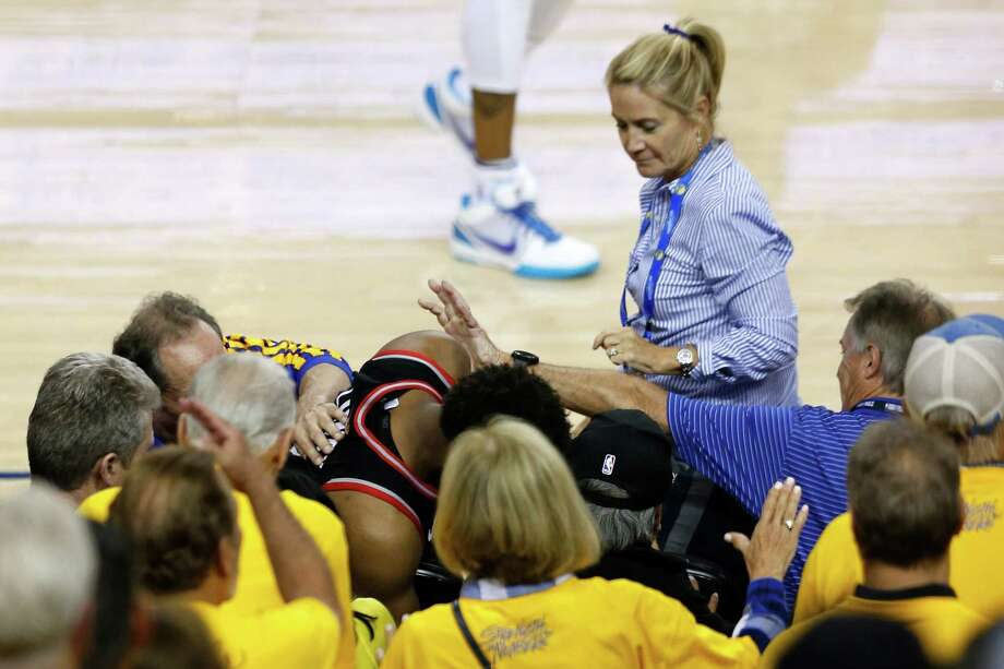 Mark Stevens Stevens is a venture capitalist worth $2.3 billion and owns a small piece of the Golden State Warriors. In Game 3 of the NBA Finals, he reached over three seats to push the Raptors' Kyle Lowry, who dove into the stands for a loose ball. Stevens has been fined $500,000 and banned from NBA games and Warriors events for a year. Photo: Lachlan Cunningham, Getty Images / 2019 Getty Images