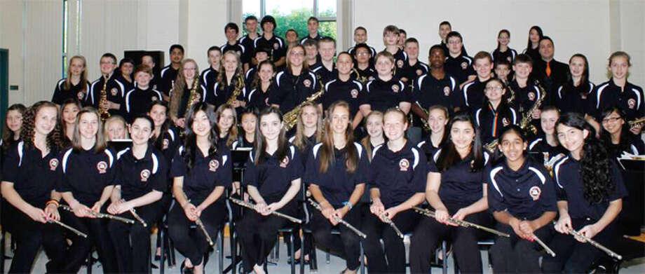 Members of the Shelton Intermediate School band.