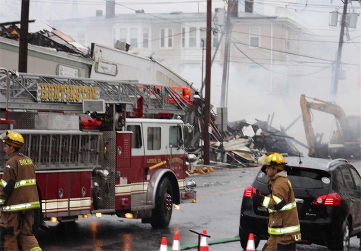The smoke-filled scene on Howe Avenue.