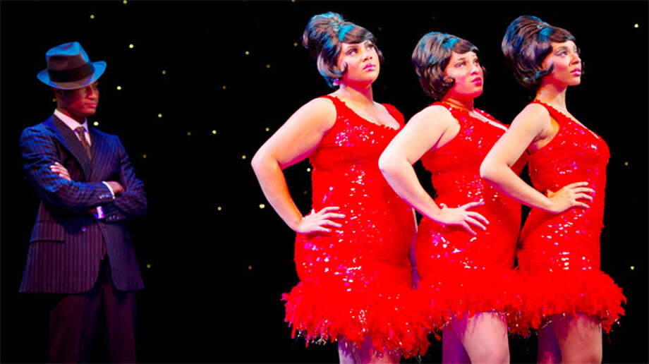 "Cast members from the musical ""Dreamgirls"" by the Bridgeport Theatre Company, to be performed Jan. 17-Feb. 1."