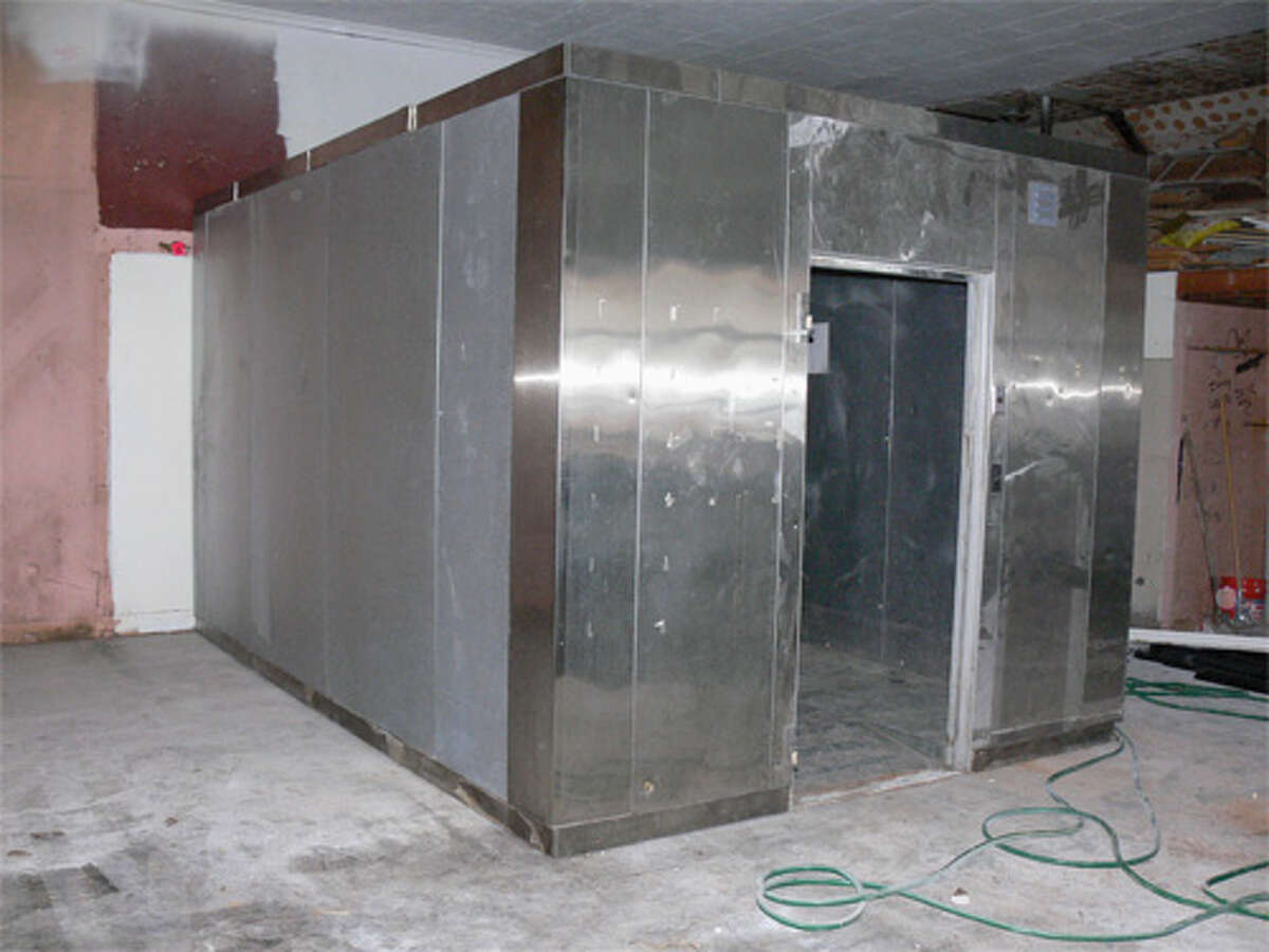 A new walk-in cooler has been placed inside the store.