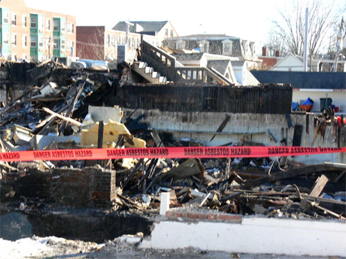 Fire investigators now are looking through the burnt debris from the Jan. 6 blaze in downtown Bridgeport.