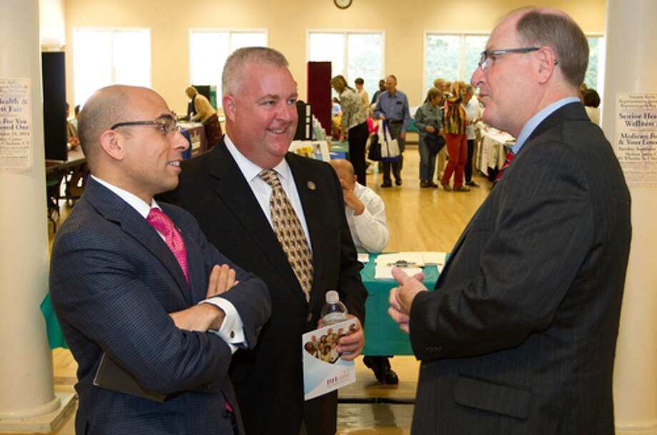 From left, state Rep. Jason Perillo, state Rep. Ben McGorty and state Sen. Kevin Kelly, all of whom represent Shelton.