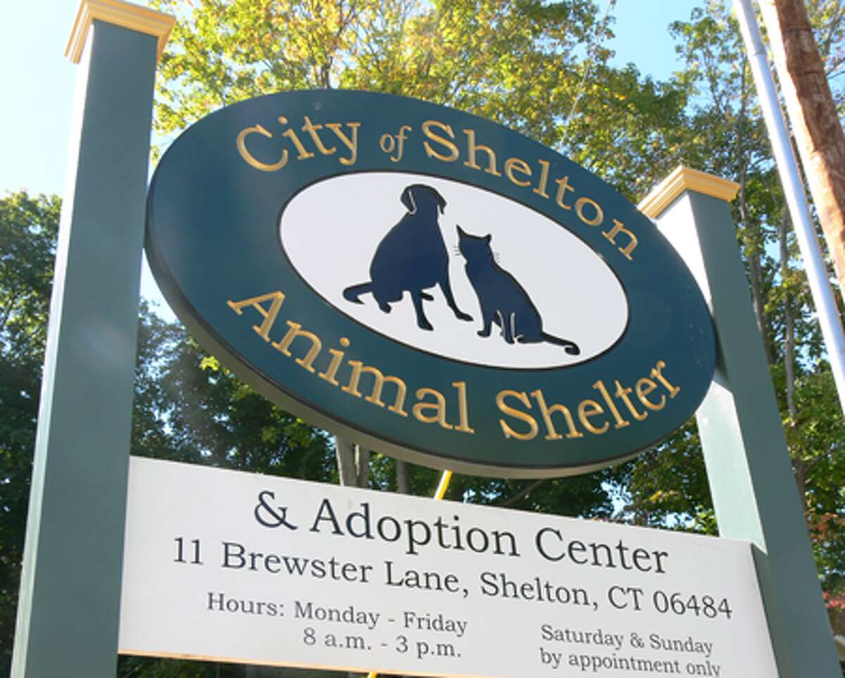 The sign for the new Shelton Animal Shelter.