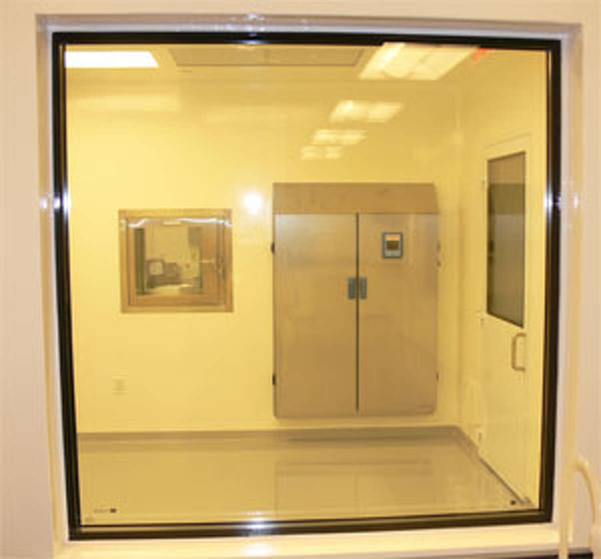 A look inside a restricted lab area in the NanoViricides Inc. facility in Shelton.