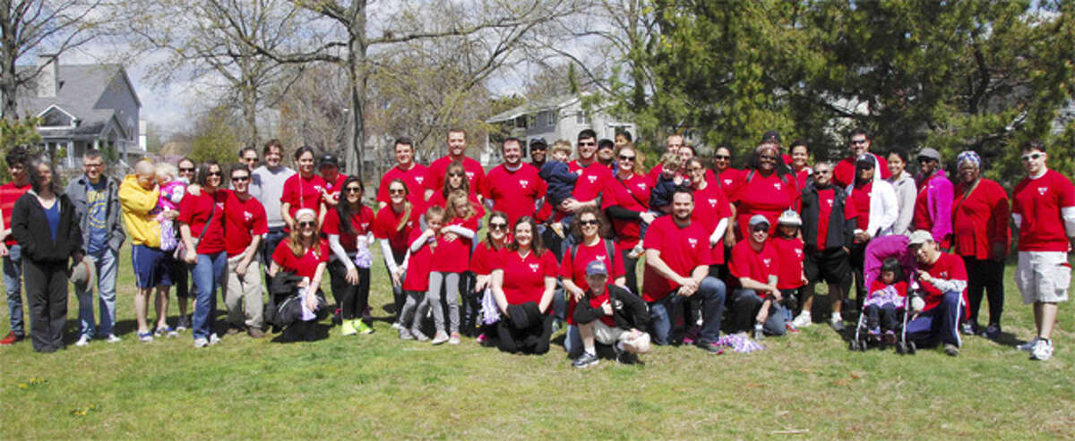 The SSI team at the March for Babies walkathon.