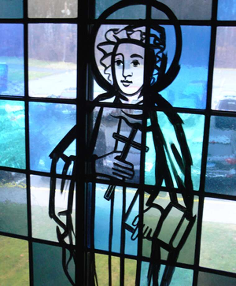 A stained glass window at St. Margaret Mary Church in Shelton, which was built in the mid-1970s.