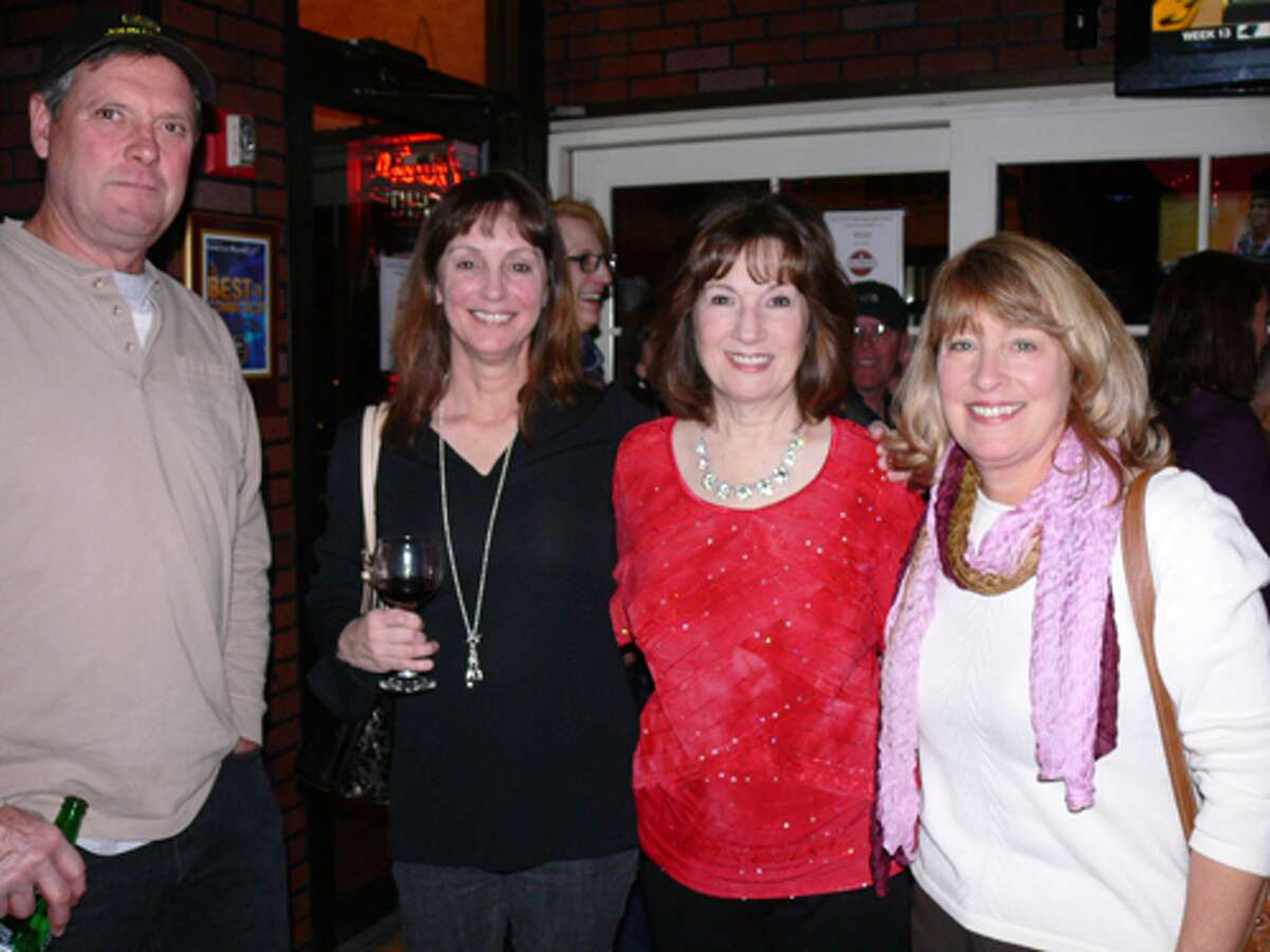 SHS '74 class members, from left, Cliff Brisch, Vanessa Rose, Charlene Sutton Deflippo and Candy Mazur pose for a photo at the gathering.