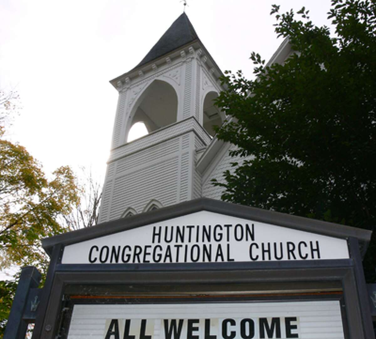 A view of Huntington Congregational Church in Shelton. (Photos by Brad Durrell)