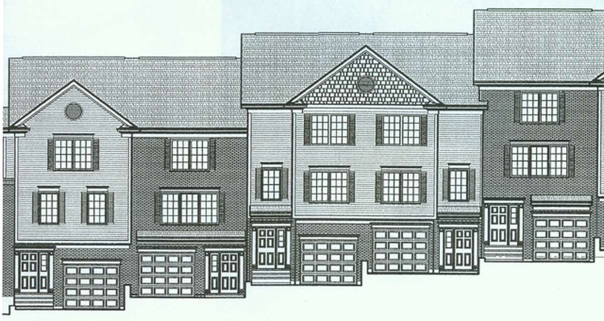 A rendering of some of the 20 condo units being proposed for 49 Shelton Road, which is near the start of Huntington Street in Shelton.