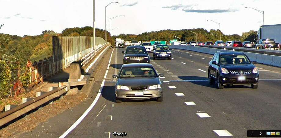 "Work on the Yankee Doodle Bridge will require the temporary closure of the sidewalk on the side of the I-95 bridge. The state Department of Transportation said the sidewalk closure will occur on or about Monday, June 10, 2019 and is necessary ""to facilitate the reconstruction of the concrete traffic barrier as well as the pedestrian railing system."" Photo: Google Street View Image"