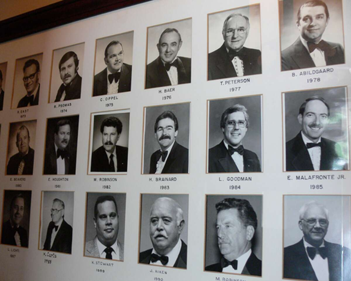 Past masters of the lodge.