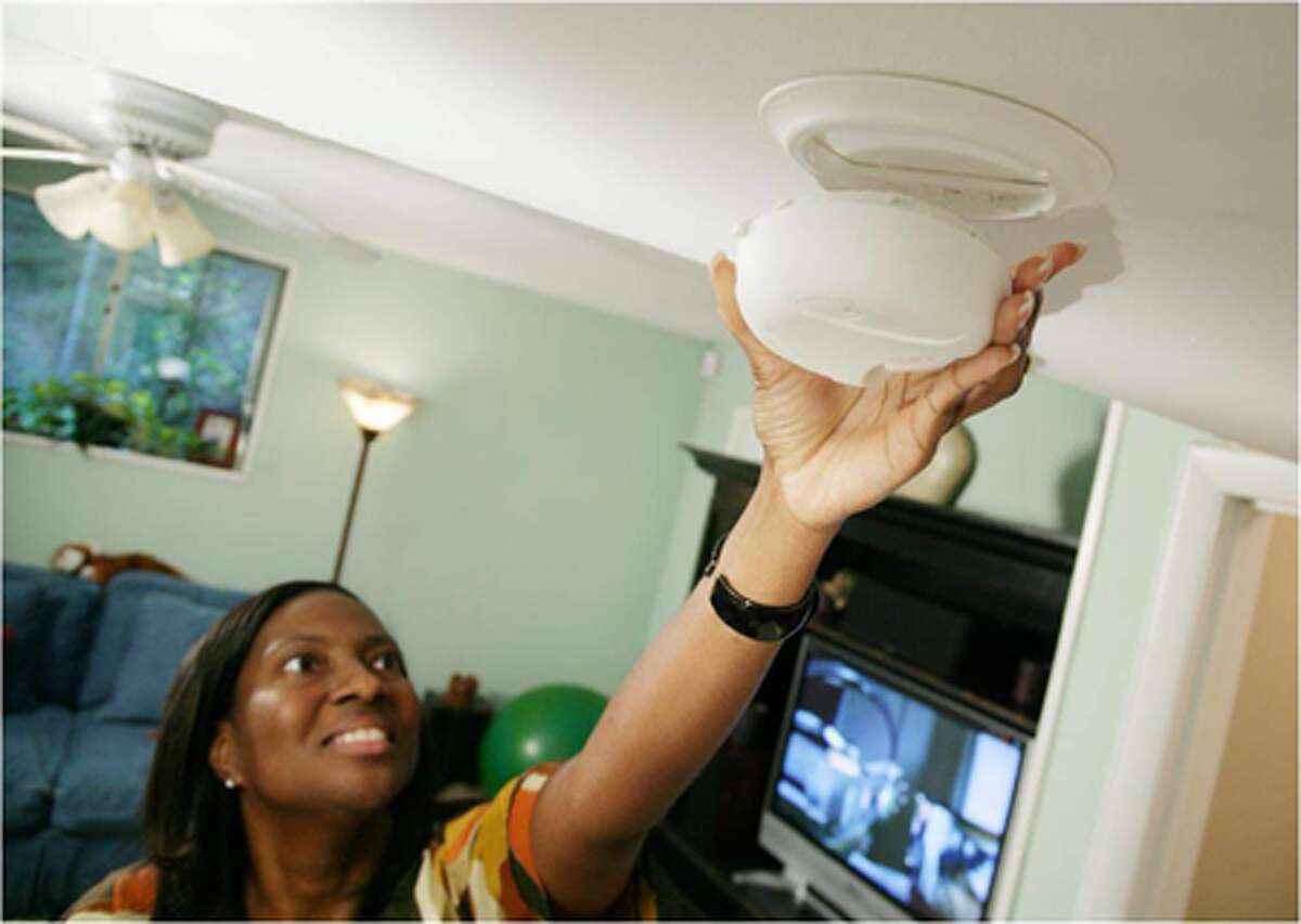 Batteries on smoke alarms should be checked regularly and immediately replaced when needed.