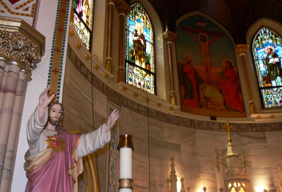 A statue of Jesus in the sanctuary at St. Joseph Church in Shelton.