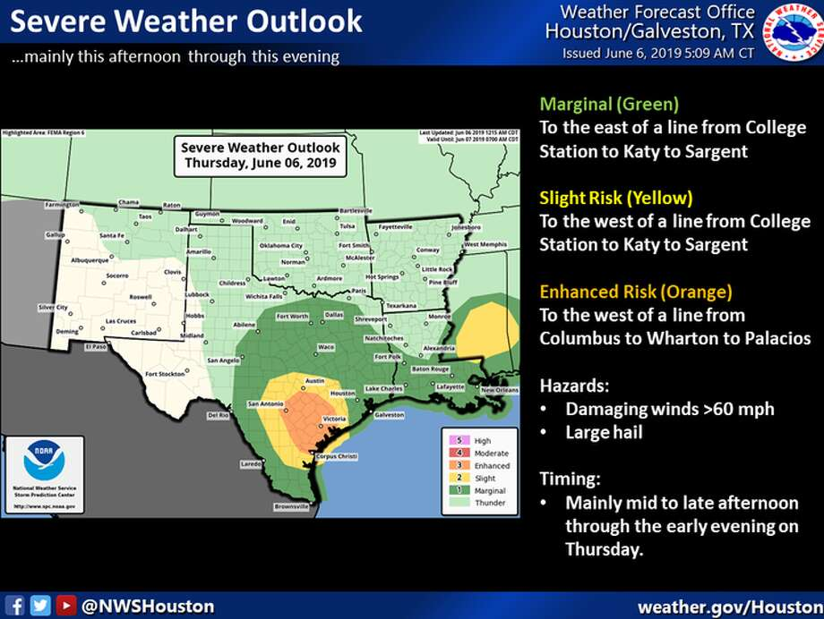 Meteorologists don't anticipate flooding today in Houston, but more rain and thunderstorms are in the forecast. Photo: National Weather Service