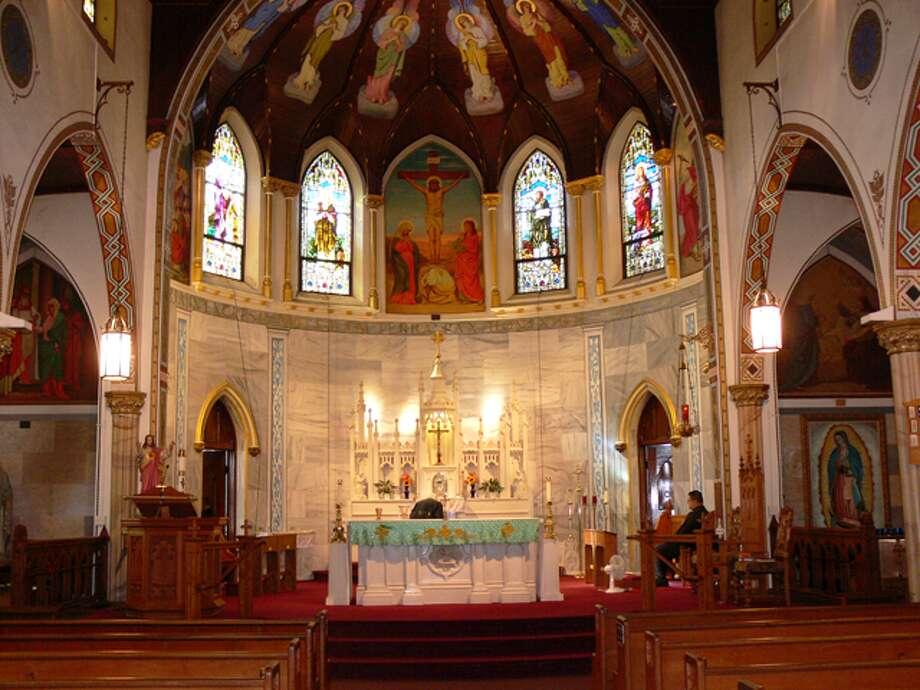 The inside of St. Joseph's Church on Coram Avenue in Shelton.