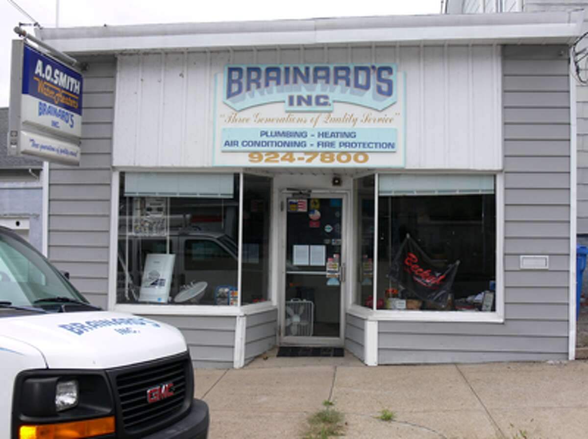 The Brainard's office on Oak Avenue in downtown Shelton appears to be unoccupied. The company has offered HVAC and plumbing services as well as fuel oil delivery.