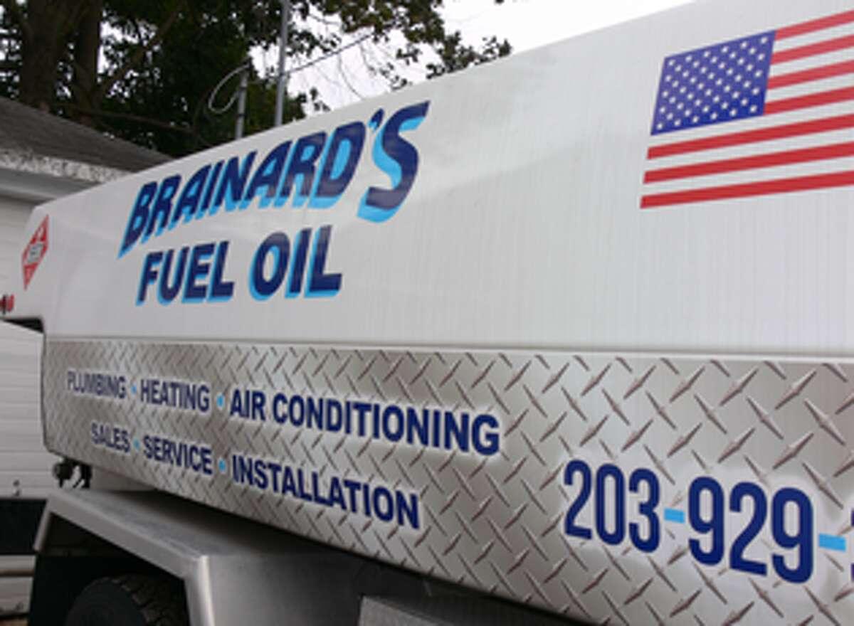 A Brainard's Oil delivery truck.