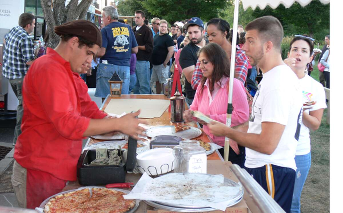Pizza was a popular option for many people at Food Trucks in the Valley.