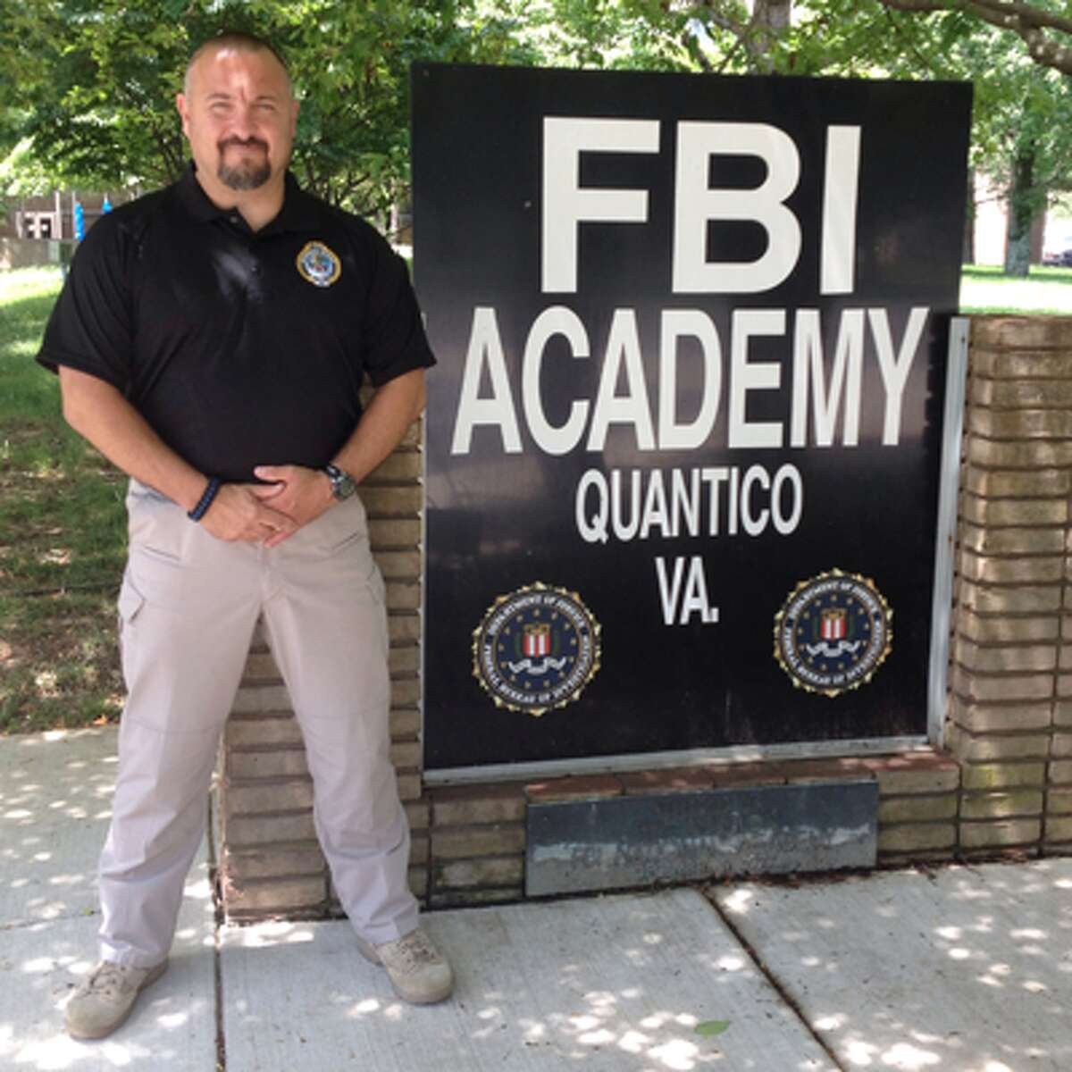 WestConn Police Sgt. Richard Montefusco completed a 10-week training course at Quantico, Va.