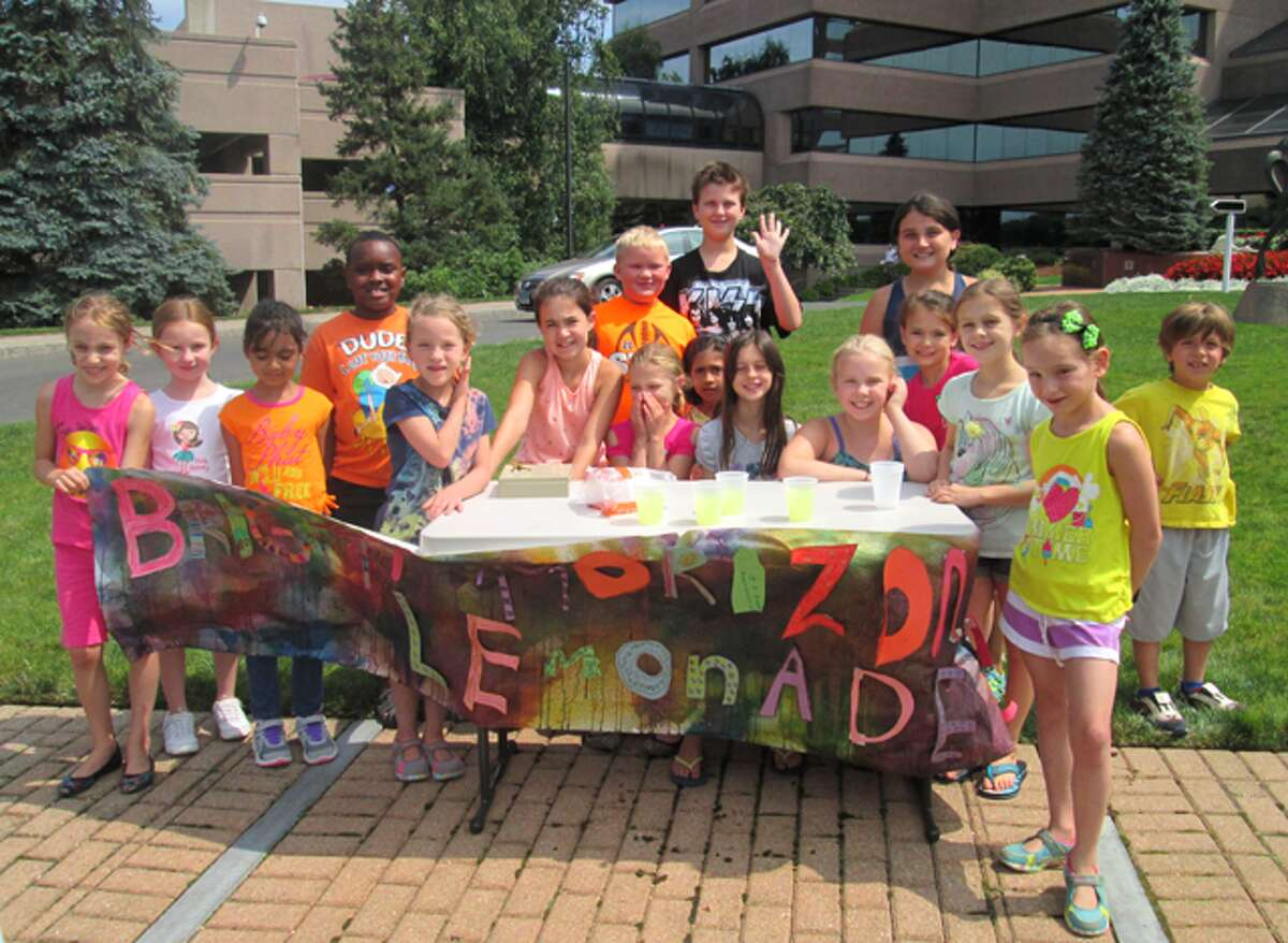 Children from Shelton Bright Horizons raise funds to create a