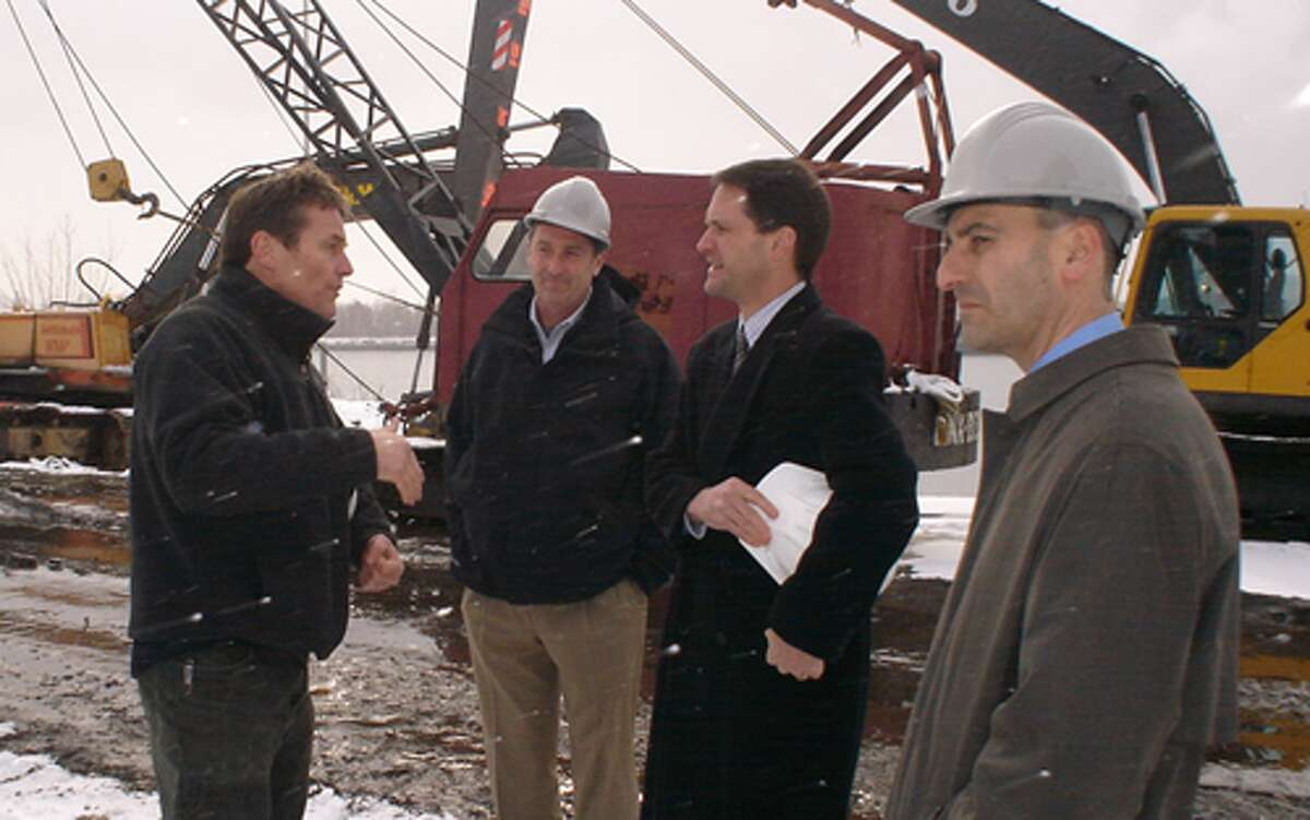This photo of U.S. Rep. Jim Himes touring the Derecktor Shipyards property in Bridgeport in January 2010 was posted on the congressman's Flickr page.