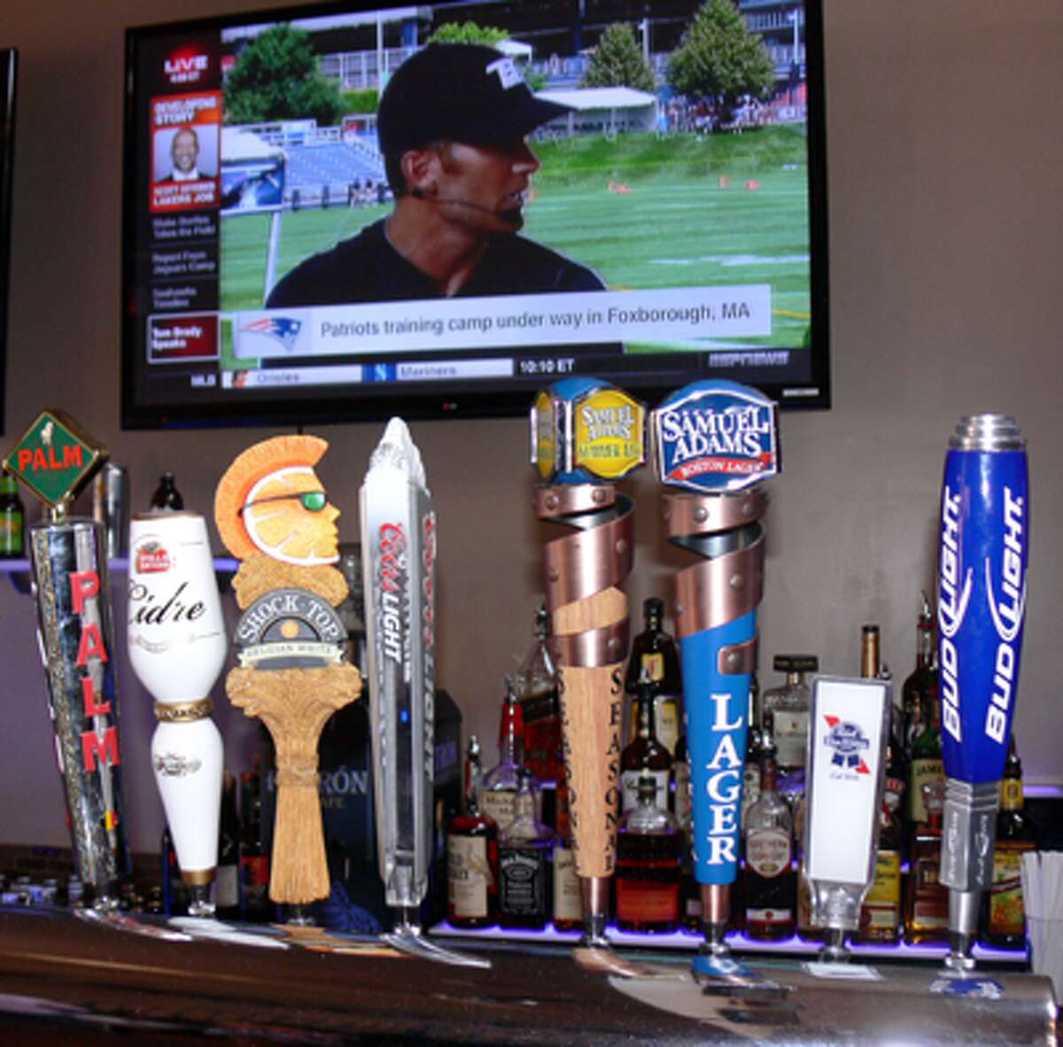 There are plenty of beers on tap - as well flat-screen TVs - at the new bar and restaurant in downtown Shelton.