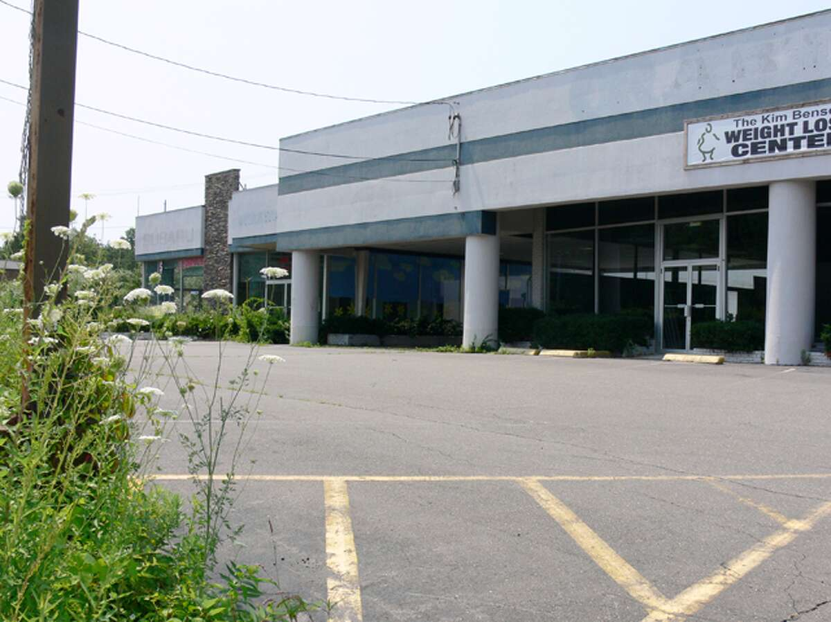 A view of the former Crabtree Auto dealership on Bridgeport Avenue in Shelton.
