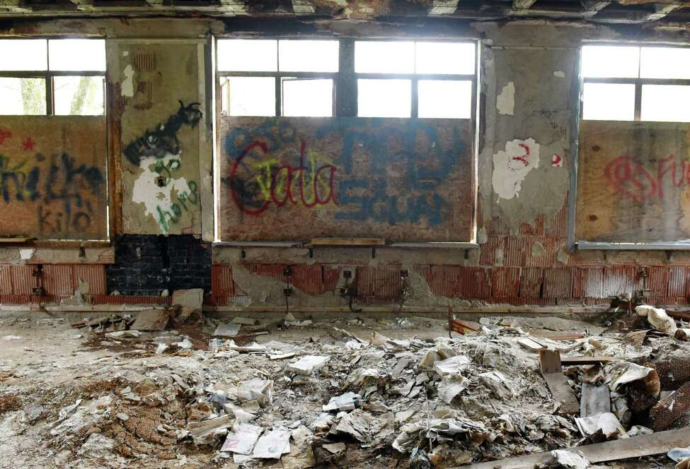 A view of a room that used to home tuberculosis patients inside of the Homestead sanatorium on Thursday, May 23, 2019 in Middle Grove, NY. (Phoebe Sheehan/Times Union)