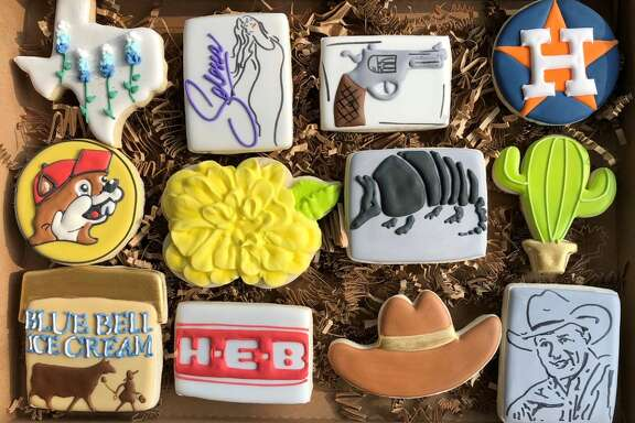 April Roldan's Houston and Texas-themed cookies have nearly doubled her clientele and online following after she first posted photos of her creations in Sept. of 2018. The Humble mother of three said the Texas-themed cookies are her most popular item that she sells out of her home-based business, Sugar High Cookies.