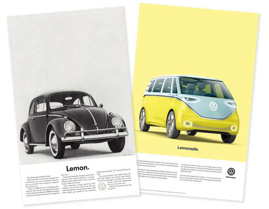 Volkswagen's new advertising campaign plays off a classic ad. Photo: Volkswagen