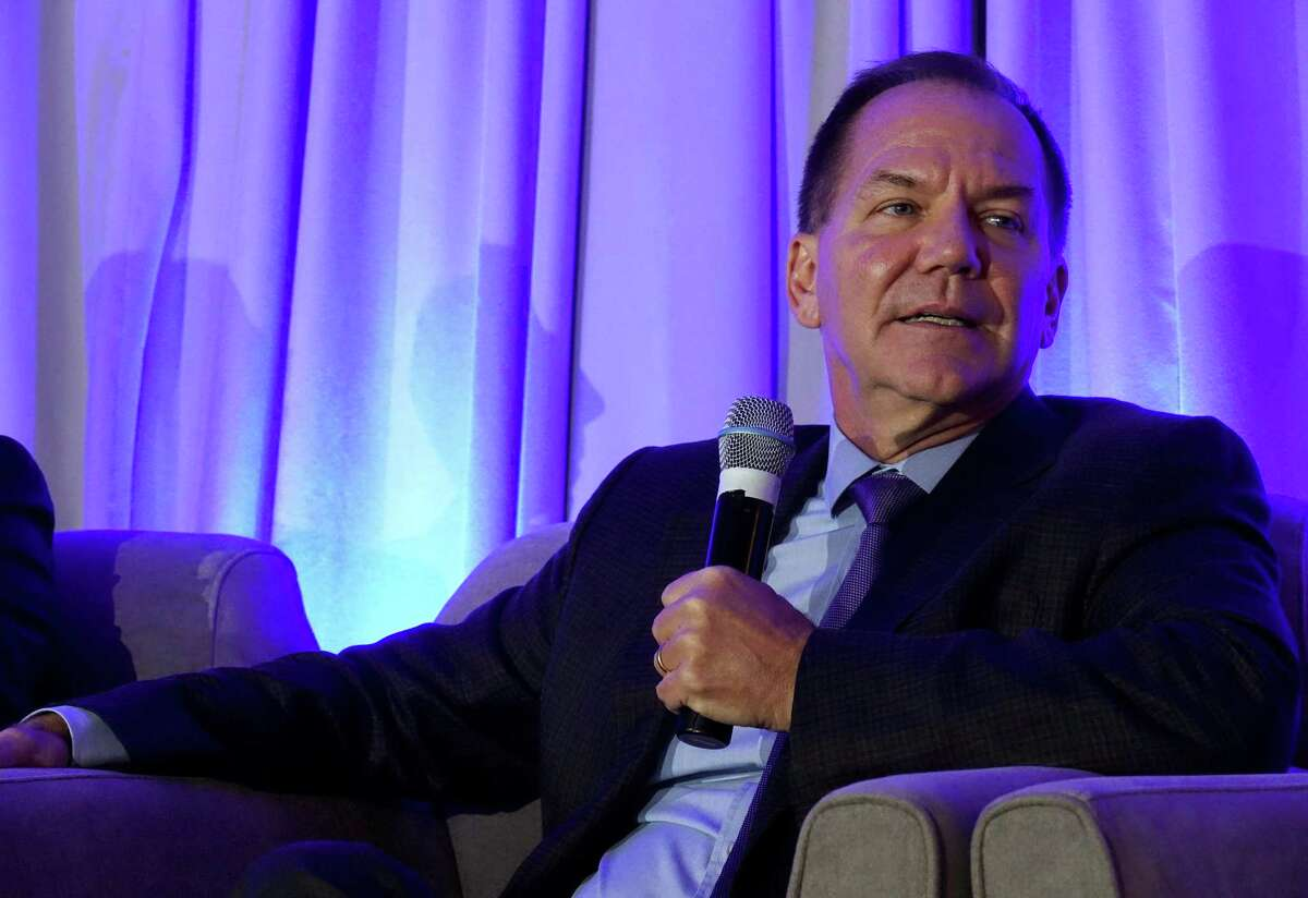 Tudor Investment Corp. founder Paul Tudor Jones speaks during day one of the Greenwich Economic Forum at the Delamar Greenwich Harbor in Greenwich, Conn. Thursday, Nov. 15, 2018. Dalio appeared Nov. 5, 2019, at the Greenwich Economic Forum, where he expressed concerns about income inequality in the United States.