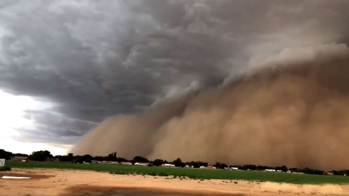 The National Weather Service reported that Wednesday's strong thunderstorms in North Texas resulted in a massive dust storm that hit Lubbock and was captured in a series videos posted to Twitter.