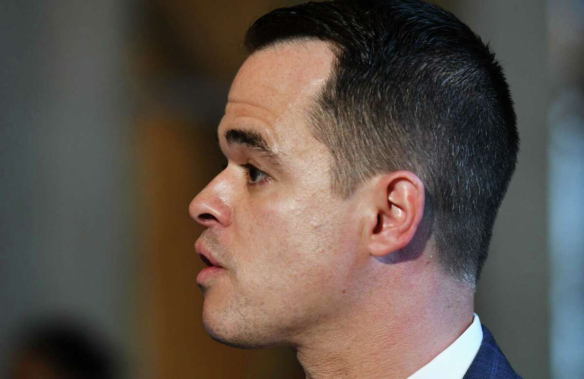 Senator David Carlucci speaks during a press conference on the measles vaccine for summer camp on Thursday, June 6, 2019 at the Capitol in Albany, NY. (Phoebe Sheehan/Times Union)
