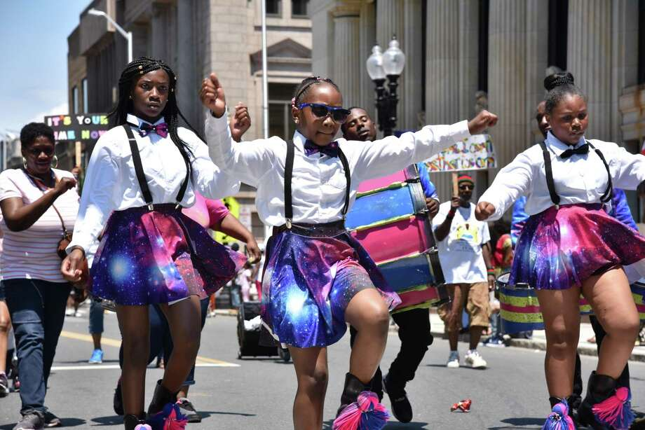 Bridgeport, Conn. celebrates Juneteenth Day with a parade and festival on Saturday, June 10, 2017. The Juneteenth African-American Caribbean Parade and Festival commerates the freeing of the last slaves in the U.S. on June 19, 1865. Photo: Bailey Wright / For Hearst Connecticut Media / Connecticut Post Freelance