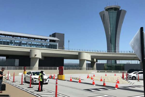 Pick up zone D adjacent to Terminal 2 at SFO's new rideshare lot