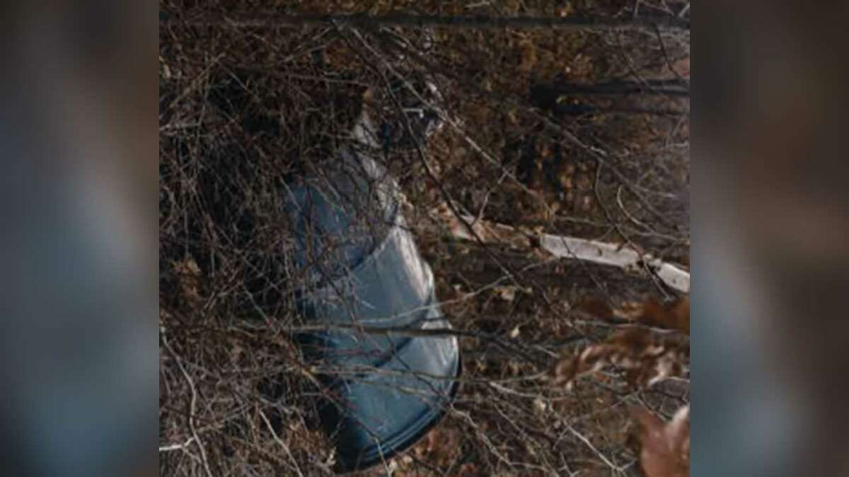 The barrel found in 1985, the first discovery in the Bear Brook murders.
