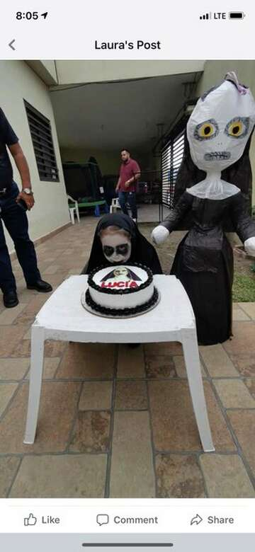 3-year-old's 'The Nun'-inspired birthday goes viral, gets shout out