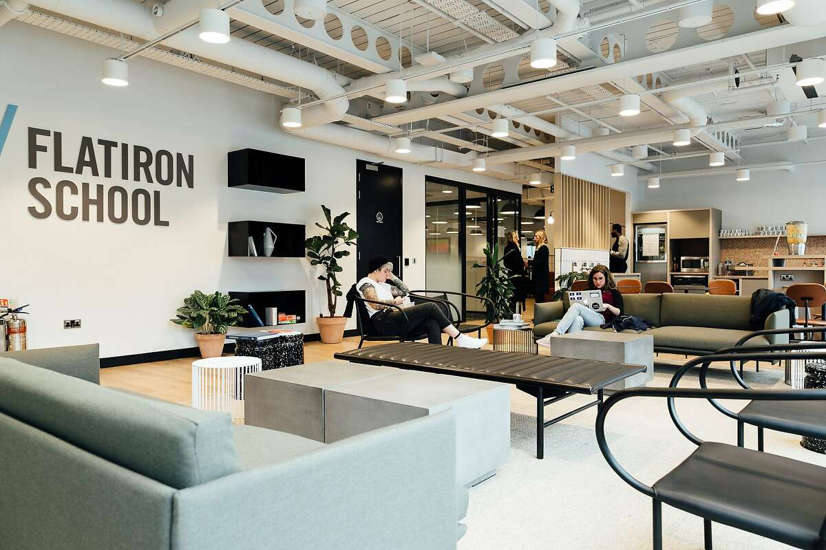 A London location of Flatiron School, WeWork's coding school, which is expanding to San Francisco.